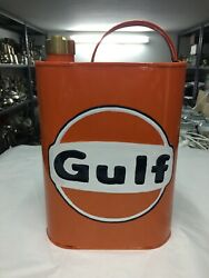 Jerrycan Vintage For Oil Gulf Metal And Brass