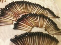 Set Of 100 Hand Blown Brown Teardrop Glass Parts For Chandelier Lamp Up To 6