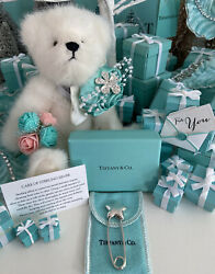 Tiffanyandco Star Diaper Safety Pin Brooch Sterling Silver Baby Shower Pouch Box
