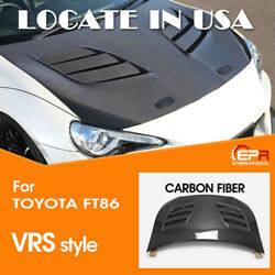 Vrs1 Style Carbon Glossy Fit For Toyota Ft86 Brz Front Vented Hood