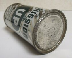Pre Zip 1954 Straight Steel Mission Up Soda Can Flat Top Open On Bottom