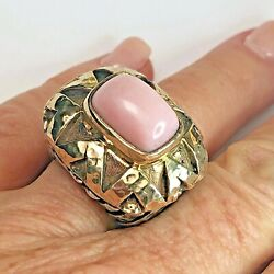 Dian Malouf Sterling And 14k Gold Ring