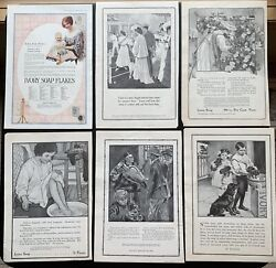 Vintage Early 1900's Ivory Soap Flakes Pets Flowers Kids Women 18 Print Ads