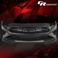 Gt/ecoboost Style Front Bumper Cover W/chin Lip Spoiler For 2018-2020 Mustang
