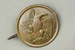 Civil War Union Eagle Plate Modified By Soldier Dug Cold Harbor Virginia