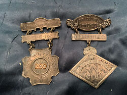 Pair Of Rare Antique Bicycle Race Medals 1890's