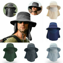 Wide Brim Fisherman Hat UV Sun Protection Bucket Boonie Cap Hiking Waterproof $13.99