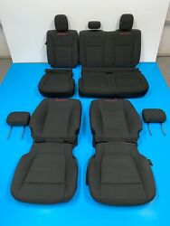 2018 Ford F150 Xlt Sport Front And Rear Seat Cover With Foam Black And Red Stitching