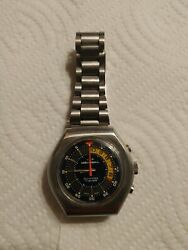 Memosail 10 Minutes Register Cronograph Manual Wind All Stainless Steel