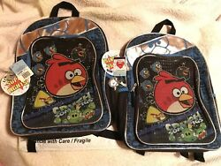 2X quot;Angry Birdsquot; NWT LOT 16X13 Backpacks School Bags Crush Some Pigs BIN LOOK $19.01