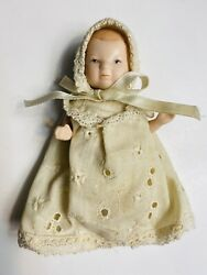 Vintage Bisque 5 Piece Strung Body 5quot; Baby Doll Miniature Dollhouse