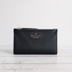 NWT Kate Spade Jackson Small Slim Bifold Leather Wallet in Black $59.95