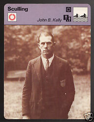 John B. Kelly Sculling Olympic Gold Rowing 1978 Sportscaster Card 17-18a