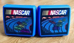Tupperware Brand Nascar Holographic Race Cars Sandwich Snack Container Set 3752