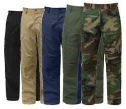 Military Bdu Cargo Pants Tactical 6 Pocket Emt Police Fatigue Trousers
