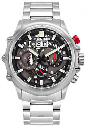 Watch Man Police Watches Luang Pl.16018js-13m Of Stainless Steel Silver