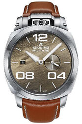 Watch Man Anonimo Militare Am102001002a02 Leather Brown Leather