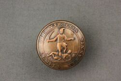 Pre Civil War Virginia State Seal Button Canfield And Brothers Baltimore