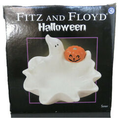 Fits And Floyd Ghost Candy Dish 2004 Vintage Halloween Y2k With Original Box