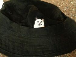 RIPNDIP Lord Nermal Black Bucket Hat Adult One Size NEW Authentic $34.75