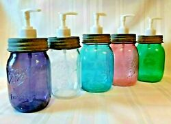 Ball And Country Antique Style Mason Jar Soap Pump Dispenser Primitive