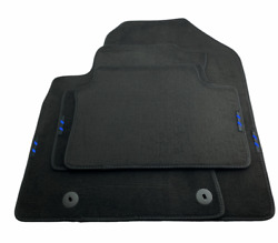 Floor Mats For Hyundai With Blue Stripes Emblem Tailored Carpets For All Models