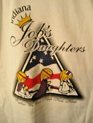 Indiana Jobs Daughters Long Sleeve T Shirt Size M-100 Pre-shrunk Cotton Nwot
