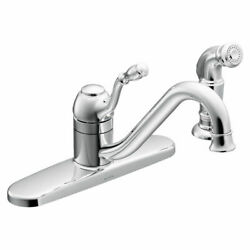 Moen Ca87009 Chrome Lindley One-handle Kitchen Faucet With Spray