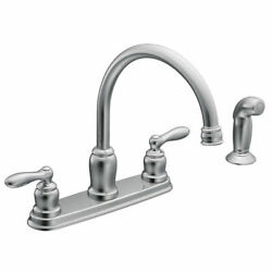 Moen Ca87888 Chrome Caldwell Two-handle Kitchen Faucet With Spray