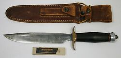Extremely Rare Springfield Mass Randall No. 1 Fighting Knife With Sheath Stone