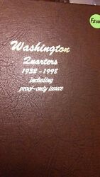 Complete Washington Quarters Set. 1932-p To 1998-s With Proofs. Fine Or Better.