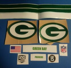 Greenbay Packers Football Helmet Decals F/s W/ 100 Season And Bart Star Decal-env