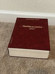 Whoandrsquos Who In America 2007 By Marquis Hardcoverdiscontinued Library Book