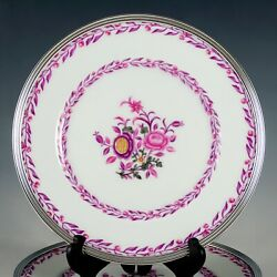 Puiforcat French Sterling Silver And Limoges Porcelain Plates Set Of 6