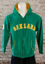 Mitchell And Ness Cooperstown Mlb Oakland Athletics A's Hoodie Jacket Green Gold M