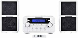 New Magnavox Bluetooth Cd Player Shelf Stereo Speaker System Lcd Amfm Aux Remote