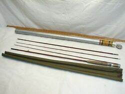 Orvis Bamboo Fly Fishing Pole Impregnated Rod Set 8-1/2and039 Case 5-5/8oz Battenkill