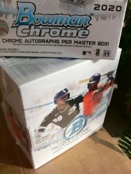 2020 Bowman Chrome 2 Hobby Box Lot - In Stock - 2 Fresh Boxes From New Case