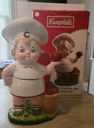 2004 Campbell's Soup 12 Cookie Jar Campbell Kid Girl Baum Bros Imports Rare