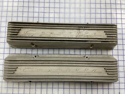 Corvette 9 Fin Staggered Hole Valve Covers For Early Small Blocks 1956 1957