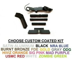 Extended Control Kit 3 Pins And Serrated Mag Release For Glock 17 And 19 Gen 1-3