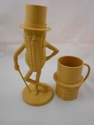 Planters Mr. Peanut Plastic Bank And Cup - Beige