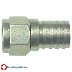 Pe Rg6 Zinc-plated Connectors With O-ring And Gel, 100 Pk