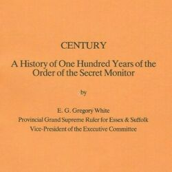 Pamphlet, 100 Yrs Order Of The Secret Monitor By Gregory White, Lot 152