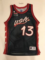 Champion Shaquille O'neal Shaq Usa Olympic Dream Team 3 Jersey Nba Lakers Sz 44