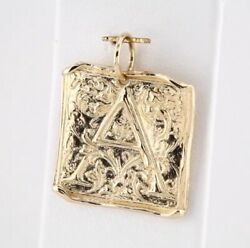 Initial Pendant Vintage Look By Posh 14k Yellow Rose Or White Gold