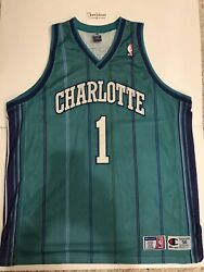 Champion Mugsy Bogues Charlotte Hornets Nba Authentic Jersey Space Jam Size 56