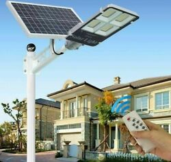 Garden Street Light Solar Powered Waterproof Ledand039s With Wireless Remote Controls