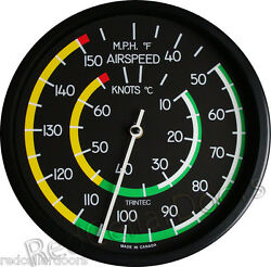 New Trintec Airspeed Thermometer 10 Round Aviation Instrument Guage