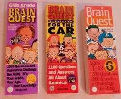 Lot Of 3 Brain Quest Question Games To Challenge The Mind Home School Excellent